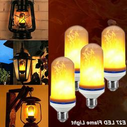 4-PACK LED Flame Effect Fire Light Bulb E27 Flickering Lamp