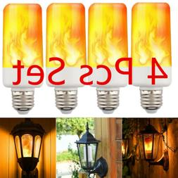 4-PACK LED Flame Effect Fire Light Bulb E27 Flickering Lamp