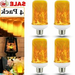 4 Pack LED Flame Effect Simulated Flicker Nature Fire Bulbs