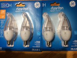 4 pack GE Lighting Candelabra Base CAC  Dimmable LED Bulb 4-