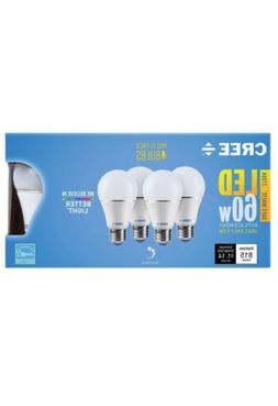 4 - Pk Cree LED 9.5 watt = 60 w Soft White  A19 Dimmable LED