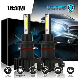 4 Sides CREE H7 2000W 300000LM LED Headlight Kit High or Lo