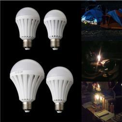 4 X LED Smart Light Bulb E27 9W Rechargeable Emergency Lamp
