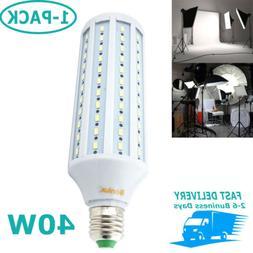 40W E26 LED Studio Light Bulb Medium Screw Base for Photogra
