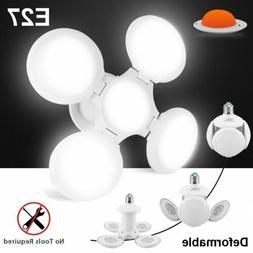 40W E27 Deformable Garage Light Bulb LED Folding Ceiling Wor