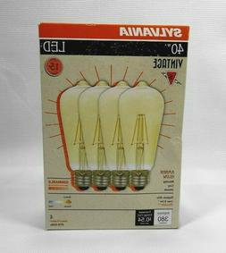 Sylvania 40W LED ST19 Dimmable Amber Glow  bulbs uses 4.5W -