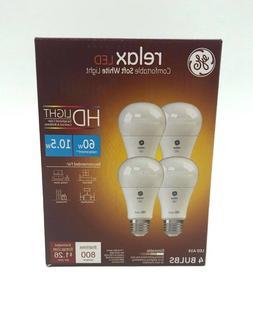 GE Lighting 42977 Relax HD LED , 800-Lumen A19 Bulb, Medium