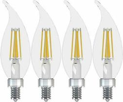 GE Lighting 43227 Relax HD LED , 500-Lumen Candle Bulb, Cand