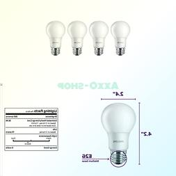 Philips LED 471532 Non-Dimmable Frosted Light Bulb, 4-Pack D