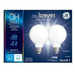 GE 49514 Reveal G25 HD LED Light Bulb, 5.5 Watts
