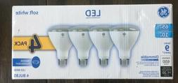 4Pack GE LED Light Bulb 65W BR30 Dimmable Soft White Indoor