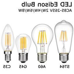 Vintage LED Bulb 2W Edison Filament E27 E14 ST64 Retro Candl