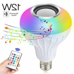 12W E27 Smart LED Light Bulb Bluetooth RGB Color Music Speak