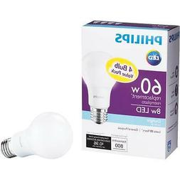 Philips 4Pk 8W A19 Led Dl Bulb