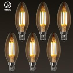 TORCHSTAR 4W LED Filament Candelabra Bulb E12, CRI >80  UL-l