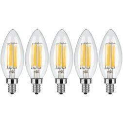 5 x 10 x E12 Bulb LED Dimmable Light Candelabr COB Filament