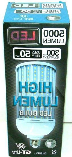 5000 Lumen LED 300 Watt Equivalent Uses only 50 Watts LED BU