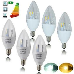 5pcs 5W E12 Candelabra LED Candle Light Bulbs Dimmable Non-d