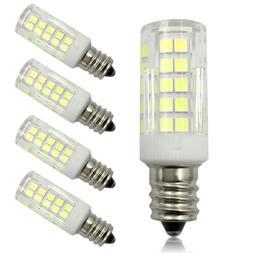 6pcs E11 Screw LED Light Bulb 64-2835 LEDs Dimmable 5W 110V Ceramics Lights