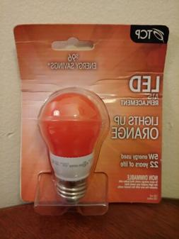 TCP 5W  LED A15 Orange Light Bulb Non-Dimmable 22 Years Of L