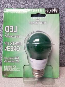 TCP 5W  LED Green Light Bulb Non-Dimmable RLA155GR RLAS155GR