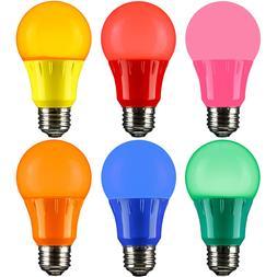 3W LED A15 COLORED LIGHT BULB, NON-DIMMABLE, E26 MEDIUM BASE