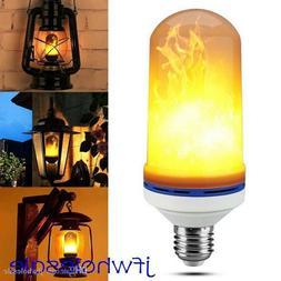 6.5W E27/E26 LED Flicker Flame Fire Effect Light Bulb Warm W