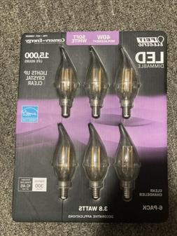 6 candelabra chandelier dimmable light