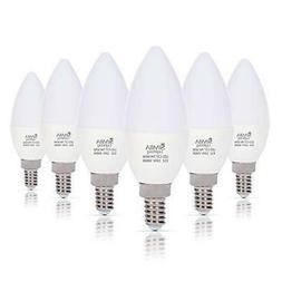 6 LED Candelabra Base Chandelier Bulb Light Bulbs E12 Daylig