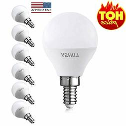 6 Pack 5W LED Candelabra Bulbs, E12 LED Bulb 50W Equivalent,