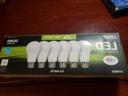 Feit Electric 6-Pack 9.5W 60W Dimmable Soft White LED Bulb 8