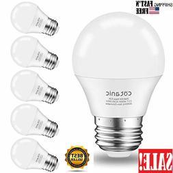 6 Pack Hansang A15 LED Bulb Light 6 Watt ,E26 Standard Base,