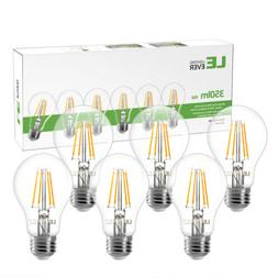 6 Pack A19 LED Filament Bulbs 4W 2700K Warm White Bulb E26 L