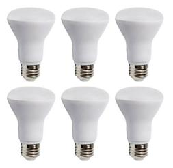 6 Pack - BR20 Dimmable LED Bulb, 7W , R20 Wide Flood Light B