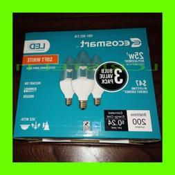 6-PACK EcoSmart 4W  dimmable LED light bulb B11 candelabra b