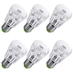 SANSI 6-Pack LED Light Bulb 5W 3000k Soft Warm E26 A15 LED B