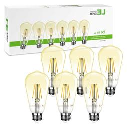 6 Pack Vintage ST64 LED Edison Bulb E26 4W Filament Light Re