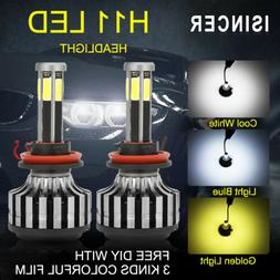 6-Sides H11 H8 H9 CREE LED Headlight Kit Hi/Low Beam Bulb La
