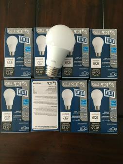 TCP 6 Watt A19 40W Replacement 525 Lumen LED Light Bulb, 8 P
