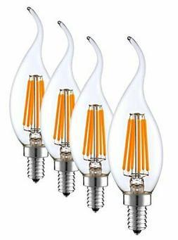 SleekLighting 6-Watt E12 LED Filament Candelabra Light Bulb