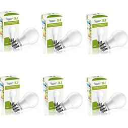 60 Watt Equivalent A19 LED Light Bulb Warm White 2700K 6 Pac