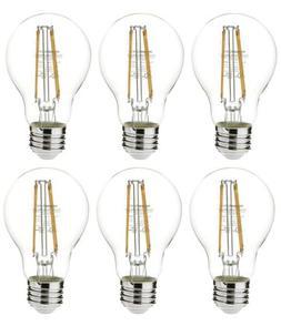 AmazonBasics 60 Watt Equivalent, Clear, Dimmable, A19 LED Li
