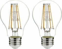 AmazonBasics 60 Watt Equivalent, Clear, Non-Dimmable, A19 LE