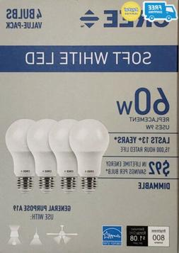 Cree 60 Watt Equivalent, Soft White, Dimmable, A19 LED Light