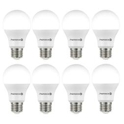 8 Pack LED 60W = 9W Soft White 60 Watt Equivalent A19 2700K