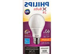 Philips 60W Equiv 9.5w LED Soft White Dimmable Bulb 24 Bulbs