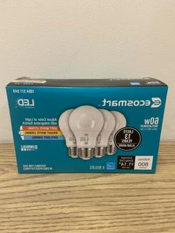 Ecosmart 60W Replacement LED Bright White 4-Pack Bulbs Dimma