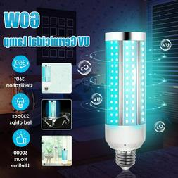 60W UV Germicidal Lamp LED UVC Disinfection Corn Light Bulb