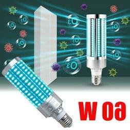 60W UV Germicidal Lamp Ozone Ultraviolet LED UVC Light Bulb