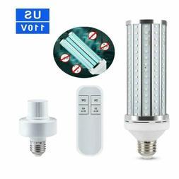 60W UV Germicidal Sterilizer Lamp LED UVC E27 Home Ozone Dis